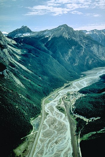 Field, BC, on the Kicking Horse River